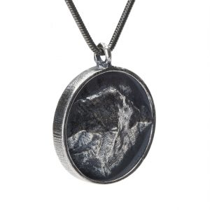 Camel's Hump topographical pendant