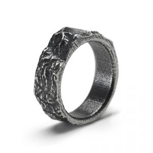Topographical map ring, Mountain range ring