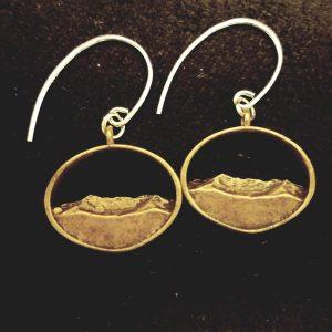 Mount Mansfield Silhouette earrings