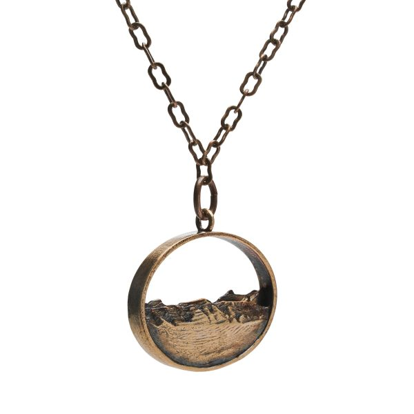 Topographical jewelry- silhouette pendant of Jackson Hole