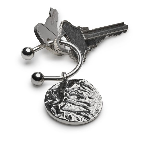 Key ring, key chain, mountain jewelry, landscape, elevation map