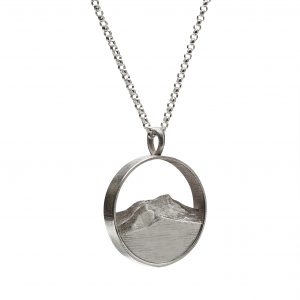The silhouette of Camel's Hump captured in a necklace