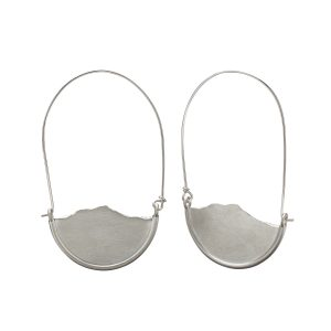 Mountain earrings, sterling silver