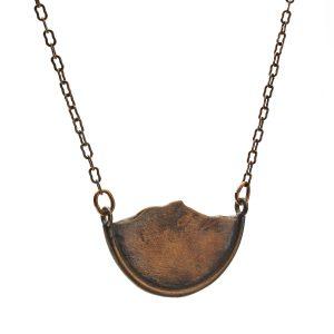 Mountain necklace oxidized bronze