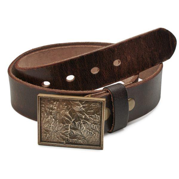 Mountain range belt buckle