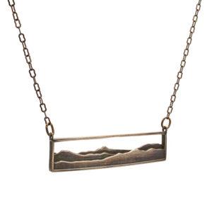 Adirondack Pendant in oxidized bronze