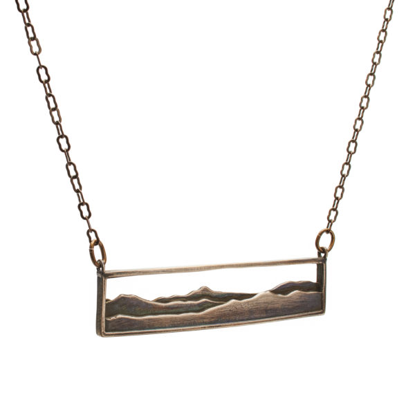 Adirondack Pendant in oxidized bronze
