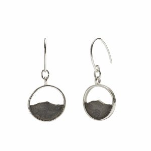 Camel's Hump earrings, oxidized sterling