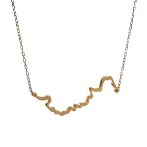 Bronze necklace of the Winooski river, Vermont