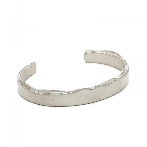 Mountain silhouette cuff bracelet