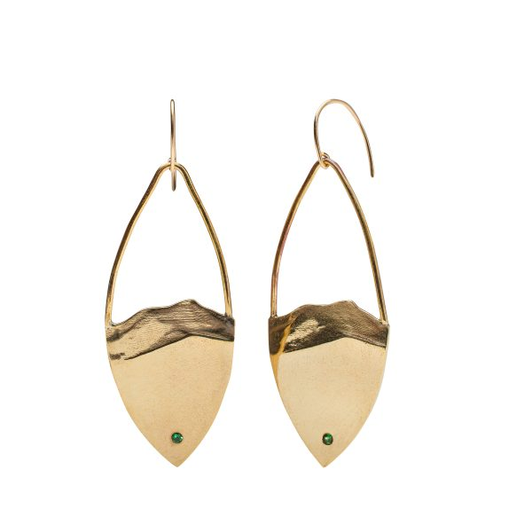 Camel's Hump shield earrings