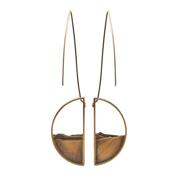 Adirondack half circle earrings